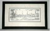 STEVE SWENY B&W CHURCH CIRCLE PRINT FRAMED