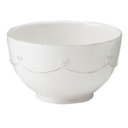 "JULISKA "" WHITE CEREAL BOWL """