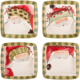 VIETRI OLD ST. NICK SQUARE SALAD PLATE - ASSORTED