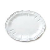 "VIETRI "" WHITE BAROQUE SMALL OVAL PLATTER """