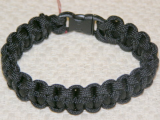 PARACORD SURVIVAL ANKLE BRACELET OR XL BRACELET - BLACK