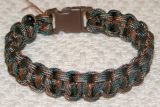 PARACORD SURVIVAL ANKLE BRACELET OR XL BRACELET - WOODLAND CAMOFLAUGE