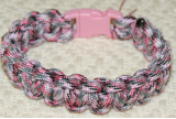 PARACORD SURVIVAL ANKLE BRACELET OR XL BRACELET - SNEAKY PINK
