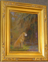 """PATIENCE STUDY"" BY V. VAUGHAN FRAMED"