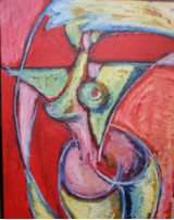 "HEIDI MAYFIELD "" SERIES 4 NUDE "" ORIGINAL OIL PASTEL"