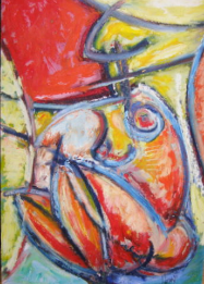 "HEIDI MAYFIELD "" LEMON NUDE I "" ORIGINAL OIL PASTEL"