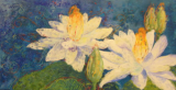 "HEIDI MAYFIELD "" WATER LILLIES "" ORIGINAL ENCAUSTIC WAX"