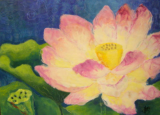 "HEIDI MAYFIELD "" A WATER LILY "" ORIGINAL ENCAUSTIC WAX"