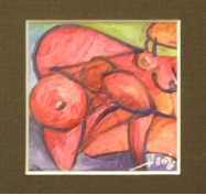 "HEIDI MAYFIELD "" MINI NUDE I "" ORIGINAL ENCAUSTIC WAX"