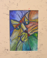 "HEIDI MAYFIELD "" CAT "" ORIGINAL ENCAUSTIC WAX"
