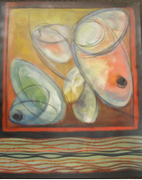 "HEIDI MAYFIELD "" OLIVES "" ORIGINAL ACRYLIC"