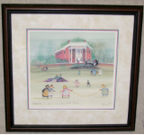 "P. BUCKLEY MOSS FRAMED PRINT "" SPRING AT THE MANSION """