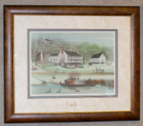 "P. BUCKLEY MOSS FRAMED PRINT "" THE NETHERLAND INN """