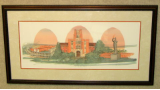 "P. BUCKLEY MOSS FRAMED PRINT "" THE UNIVERSITY OF TENNESSEE """