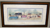 "P. BUCKLEY MOSS FRAMED PRINT "" THE EXCHANGE PLACE """