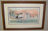 "P. BUCKLEY MOSS FRAMED PRINT "" THE NETHERLAND INN REVISITED """
