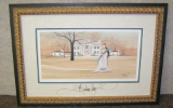 "P. BUCKLEY MOSS FRAMED PRINT "" OUR DAY AT THE MANSION """