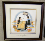 "P. BUCKLEY MOSS FRAMED PRINT "" MAKE ME AN OFFER """