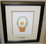 "P. BUCKLEY MOSS FRAMED PRINT "" DECEMBER'S BABY """