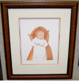 "P. BUCKLEY MOSS FRAMED PRINT "" MOST PRECIOUS """