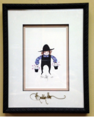 "P. BUCKLEY MOSS "" ROBBIE "" FRAMED"