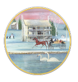 "P. BUCKLEY MOSS ""WINTER AT THE INN"" ORNAMENT"