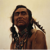 "JAMES BAMA LIMITED EDITION PRINT "" PORTRAIT OF A SIOUX """