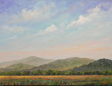 "JEFF PITTMAN "" POPPIES IN THE PARK "" ORIGINAL OIL ON CANVAS"