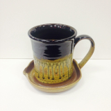 "RAY POTTERY "" BACON COOKER "" BLACK"