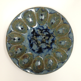 "RAY POTTERY "" DEVILED EGG DISH """