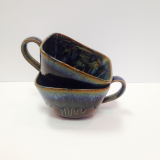 "RAY POTTERY "" SOUP MUG W/ HANDLE """