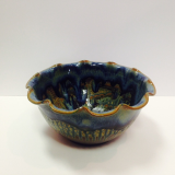 "RAY POTTERY "" FLUTED SERVING BOWL """