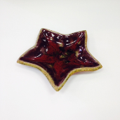 RAY POTTERY RED STAR SPOON REST