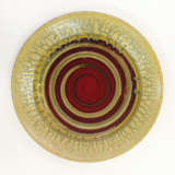 "RAY POTTERY "" ROUND SPIRAL PLATTER """