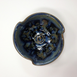 "RAY POTTERY "" TULIP BOWL, PEACOCK """