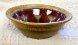 RAY POTTERY RED CEREAL BOWL WITH LIP