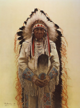 "JAMES BAMA LIMITED EDITION PRINT "" SHOSHONE CHIEF """