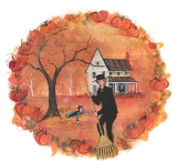 "P. BUCKLEY MOSS PRINT "" SEASONS OF LOVE - AUTUMN """