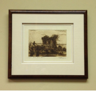 "BRETT SMITH "" THE GOOD DAYS "" ETCHING FRAMED"