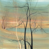 "P. BUCKLEY MOSS GICLEE "" TREES AT TWILIGHT "" SMALL"
