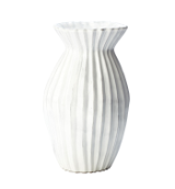 "VIETRI "" WHITE PLEATED SMALL VASE """