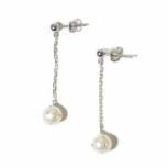PEARL GIRLS WHITE VEGAS DROP EARRINGS