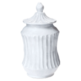"VIETRI "" WHITE STRIPE MEDIUM CANISTER """