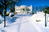 "KENNETH MURRAY PHOTOGRAPHY "" ALLANDALE MANSION IN THE SNOW "" 5.5"" X 8.5"""