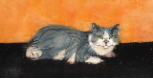 "P. BUCKLEY MOSS GICLEE "" ANDREW THE CHURCH CAT """