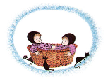 "P. BUCKLEY MOSS PRINT "" BASKET PALS """