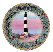 "P. BUCKLEY MOSS ORNAMENT "" BODIE LIGHTHOUSE """