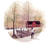 "P. BUCKLEY MOSS PRINT "" THE CAMP """