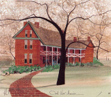 "P. BUCKLEY MOSS PRINT "" CIVIL WAR MANSION """