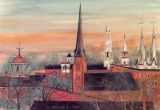 "P. BUCKLEY MOSS PRINT "" THE CLUSTERED SPIRES OF FREDERICK """